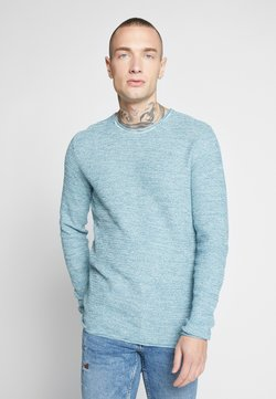Only & Sons - ONSWICTOR STRUCTURE CREW NECK - Strickpullover - dark blue