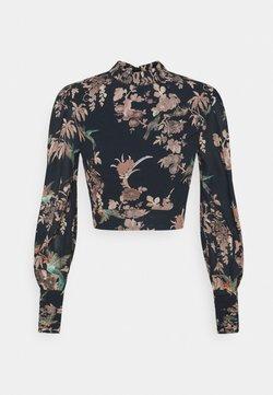 Hope & Ivy Petite - HIGH NECK BLOUSE - Bluse - plain black