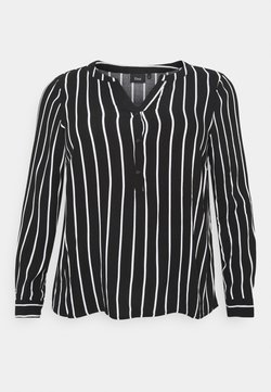 Zizzi - VAMONE BLOUSE - Bluse - black white