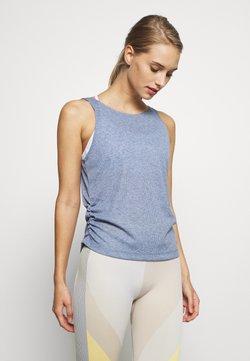 Nike Performance - YOGA RUCHE TANK - Funktionsshirt - diffused blue/obsidian mist