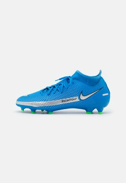 Nike Performance - PHANTOM GT ACADEMY DYNAMIC FIT MG - Moulded stud football boots - photo blue/metallic silver/rage green