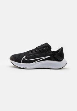 Nike Performance - AIR ZOOM PEGASUS 38 FLYEASE 4E - Neutrala löparskor - black/white/anthracite/volt