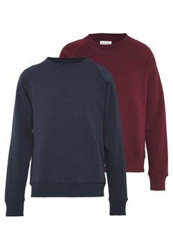 Pier One - 2 PACK - Sweater - dark blue/bordeaux