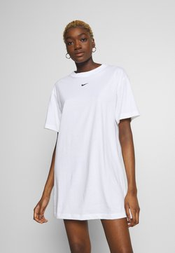 Nike Sportswear - DRESS - Vestido ligero - white/black