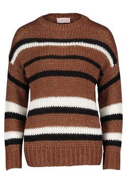Cartoon - Strickpullover - brown white
