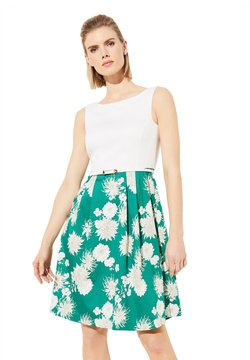 comma - Cocktailkleid/festliches Kleid - green floral print