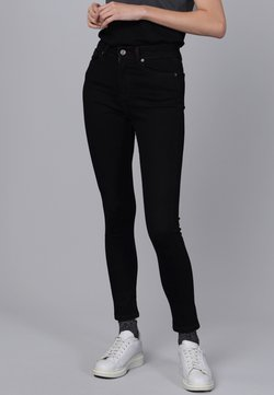 Basics and More - Jeans Skinny Fit - black/bordeaux