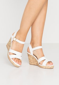New Look Wide Fit - WIDE FIT POSSUM WEDGE - Sandaletter - white