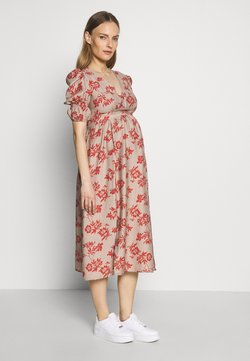 Glamorous Bloom - DRESS - Vapaa-ajan mekko - stone/rust flower