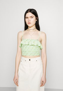Hollister Co. - BARE RUFFLE SMOCKED - Top - mint