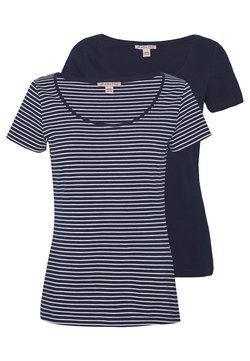 Anna Field - 2 PACK - T-Shirt print - navy/white
