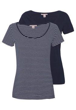Anna Field - 2 PACK - T-Shirt print - navy/white