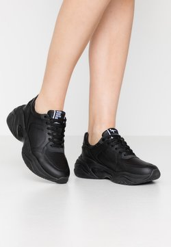 Tamaris Fashletics - LACE-UP - Sneakers laag - black uni