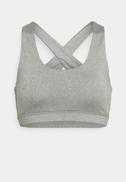 Cotton On Body - WORKOUT CUT OUT CROP - Sport-BH mit leichter Stützkraft - mid grey marle