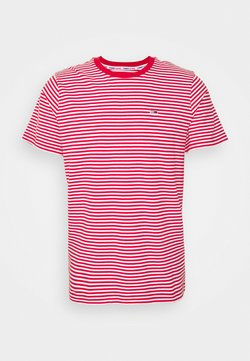 Tommy Jeans - CLASSICS STRIPE TEE - T-Shirt print - red