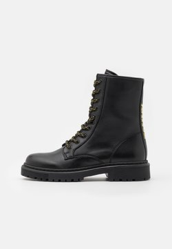 Tommy Jeans - DOUBLE DETAIL LACE UP BOOT - Veterboots - black