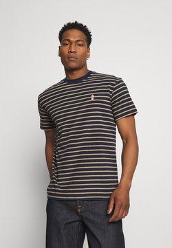 REVOLUTION - STRIPED - T-Shirt print - navy-mel