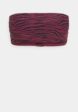 MICHAEL Michael Kors - ZEBRA BANDEAU - Bikini-Top - ruby