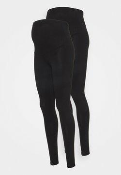 ONLY - OLMLOVELY LIFE 2 PACK - Leggings - black/black