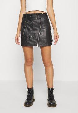 Replay - SKIRTS - Mini skirt - black