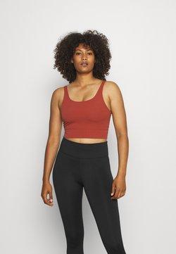 Nike Performance - THE YOGA LUXE CROP TANK - Top - redstone/dark pony