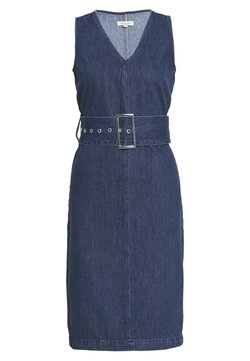 Selected Femme Petite - SLFDEMINA INKY  - Vestido vaquero - dark blue denim