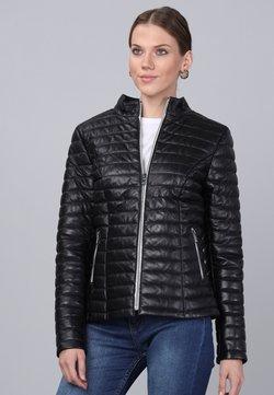 Basics and More - Leren jas - black