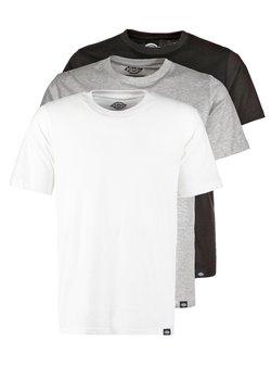 Dickies - 3 PACK - T-shirt basic - schwarz/grau/weiß