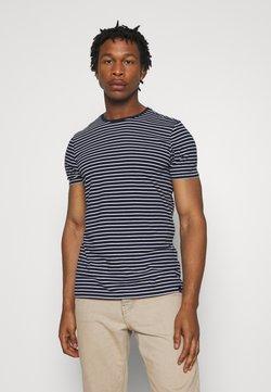 Scotch & Soda - EASY CREWNECK TEE - T-shirt imprimé - dark blue/white