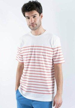 Armor lux - ETEL MARINIÈRE - T-Shirt print - blanc/rosewood