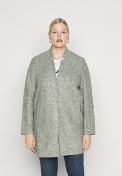 Vero Moda Curve - VMKATRINE - Short coat - black/forest melange