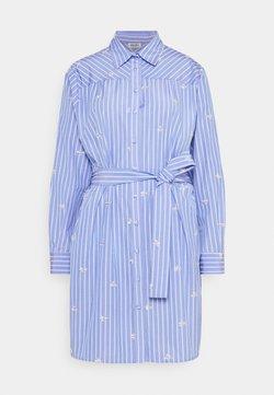 Liu Jo Jeans - ABITO CAMICIA STRIPES - Blusenkleid - bright blue