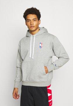 Nike Performance - NBA LOGO HOODIE - Huppari - dark grey heather/rush blue