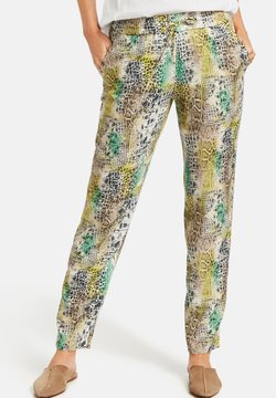 Gerry Weber - Jogginghose - offwhite/yellow/green