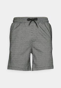 Denim Project - ELASTIC - Shorts - white/black