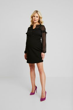 LOVE2WAIT - DRESS PONTE VOILE - Jerseyjurk - black
