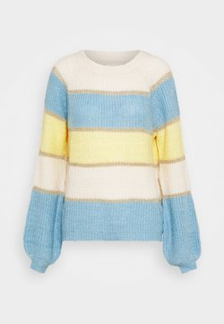 Springfield - BLOCK COLOR  - Strickpullover - yellow/white/bleu