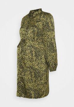 Pieces Maternity - PCMDANNI SHIRT DRESS - Vestido camisero - black/olive