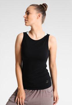 Curare Yogawear - TANK BOAT NECK - Top - black