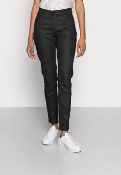 Opus - EVITA COATED - Jeans Skinny Fit - black