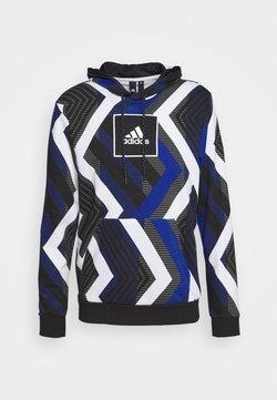 adidas Performance - HOODIE - Kapuzenpullover - white/royal blue/grey four/black