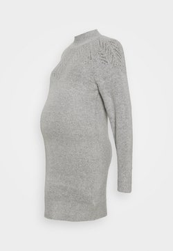Dorothy Perkins Maternity - PONTELLE YOKE DRESS - Vestido de punto - grey marl