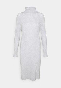 pure cashmere - TURTLENECK DRESS - Neulemekko - light grey