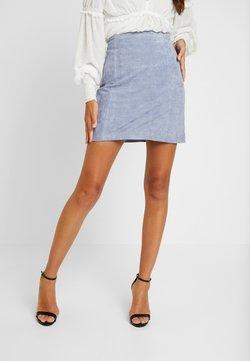EDITED - CELIA SKIRT - Leather skirt - baby blye