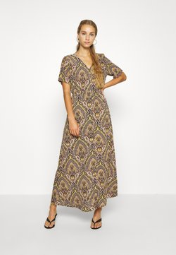ONLY - ONLHANNA S/S ANCLE DRESS WVN - Maxikleid - gold