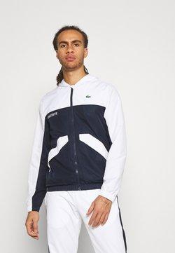 Lacoste Sport - TRACK JACKET - Träningsjacka - white/navy blue