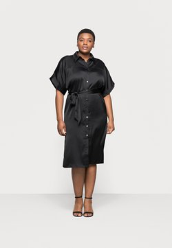 River Island Plus - Vestido camisero - black