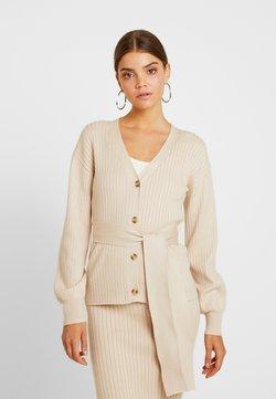 Glamorous - SLOUCHY CARDIGAN WITH BELT - Vest - stone