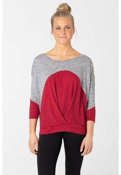 super.natural - Langarmshirt - grau   rot