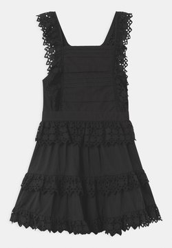 Scotch & Soda - BRODERY ANGLAISE WITH OPEN BACK DETAIL - Freizeitkleid - black